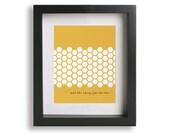 Tupelo Honey / Van Morrison inspired song lyric art print - honeycomb, wife gift, romantic wedding gift, framed wall art, first anniversary