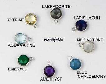 Charm  ADD ON ONLY, Natural Stone Charm, Add additional charm to your necklace.