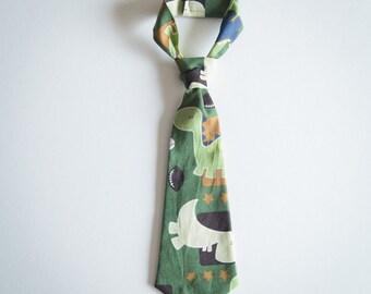 Dinosaurs Necktie, Boys Tie, Baby Tie, Tie Necktie, Wedding Ties, Ring Bearer, Cake Smash