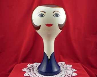 wig/hat stand from Hiatt House Pottery Made In The U.S.A.
