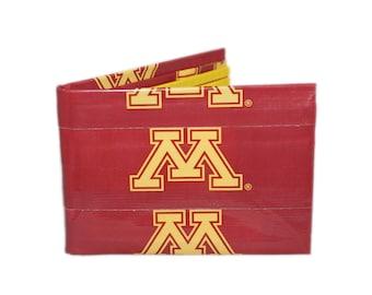 Minnesota Golden Golphers  Duct Tape Wallet