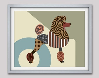 Poodle Art Print, Standard Poodle Poster, Poodle Painting, Poodle Decor, Poodle Gifts, Dog Decor, Dog Poster, Dog Lover