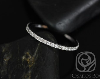 14kt White Gold Matching Band to Sofia 8mm Pave Diamonds ALMOST Eternity Band (Other Metals Available)