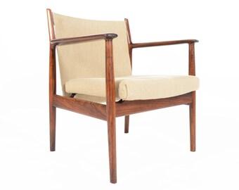 Danish Mid Century Modern Arne Vodder Rosewood Armchair