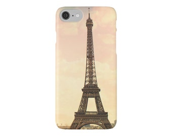 Eiffel Tower Phone Case - iPhone, Samsung, Slim and Tough Styles, Wearable Art, Pink, Orange, Paris Travel Photography