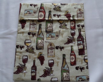 Wine country labels microwave potato bag