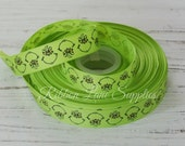 "7/8"" Ribbon by the Yard-Seussical-Green Grinch Christmas grosgrain-supplies by Ribbon Lane Supplies on Etsy"