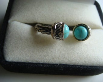 Turquoise Cable Ring