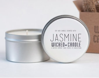 Jasmine scented soy wax Wicked Candle