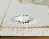 Sterling Silver Name Ring, Stackable Name Rings, Personalized Mother Ring, 3mm wide, Mommy Name Ring, Stacking Rings, Custom Name Ring