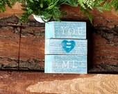 You and Me - Wood Blocks - Shelf Sitter -Conversation Blocks -  Name Sign -