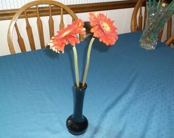 Vintage HALL bud vase, with black glaze.
