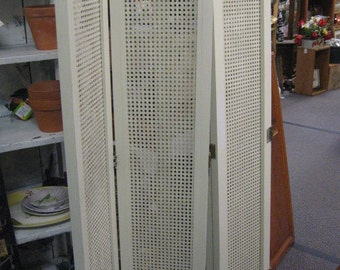 Web Shutters Vintage 53 in. x 11, (2) ea. (there are 2 sections with two attached, sold separately) creamy white, Shabby Style, Cottage Chic
