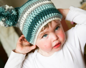 Teal Hues Jester Hat Age 1-2 years