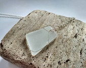 Large Frosted Genuine Sea Glass Pendant