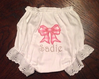 Pink Gingham Bow Bloomers