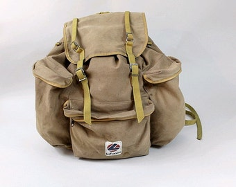1960 LAFUMA  french canvas backpack xl
