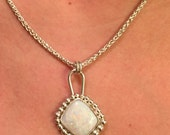 Gorgeous Handmade Sterling Silver Pendant With Australian Gem Opal