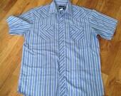 Wrangler Snap Pearl Western Shirt, Large