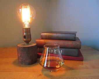 Edison Lamp, Accent Lamp, Desk Lamp, Rustic, Repurposed, Reclaimed, Steampunk, Tree Branch, Maple Tree Limb