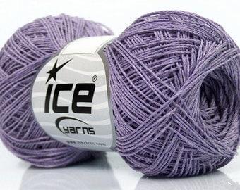 100 % Cotton superfine yarn, Lilac Summer natural yarn 50gr/ 250m