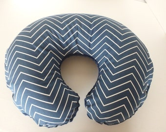 Navy Chevron Boppy Cover With Personalization Option