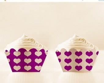 80% off Purple Printable Cupcake Wrappers DIY Aubergine