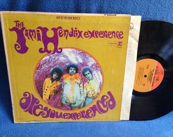 "RARE, Vintage, The Jimi Hendrix Experience - ""Are You Experienced"", Vinyl LP, Record Album, Purple Haze, Hey Joe, Foxey Lady, Fire, 2 Tone"
