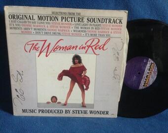 "Vintage, Stevie Wonder - ""The Woman In Red"" Original Soundtrack, Vinyl LP, Record Album, Original Motown Press, Dionne Warwick"
