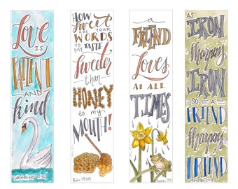 Friendship & Love themed Bible Bookmarks / Bible Journal Tag **INSTANT DOWNLOAD**