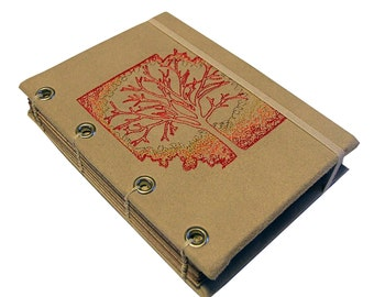 Embroidered Tree of Life Journal/Sketchbook/ Memory Keeper