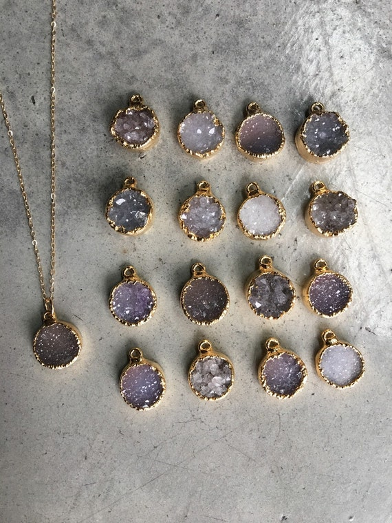 Druzy Necklaces, Boho Jewelry, Quartz Crystal Jewelry, Bridesmaid Gifts, Wedding Jewelry