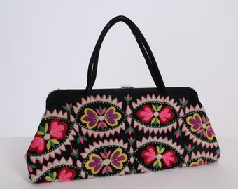 Vintage 1960s Handbag made from Ethnic Embroidery