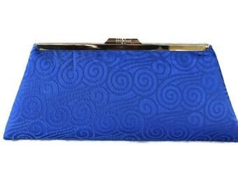 Royal blue  wedding clutch purse/ Blue Bridal accessory / Something blue/  Bridesmaids gift idea/ Blue Prom clutch ,Blue Evening purse
