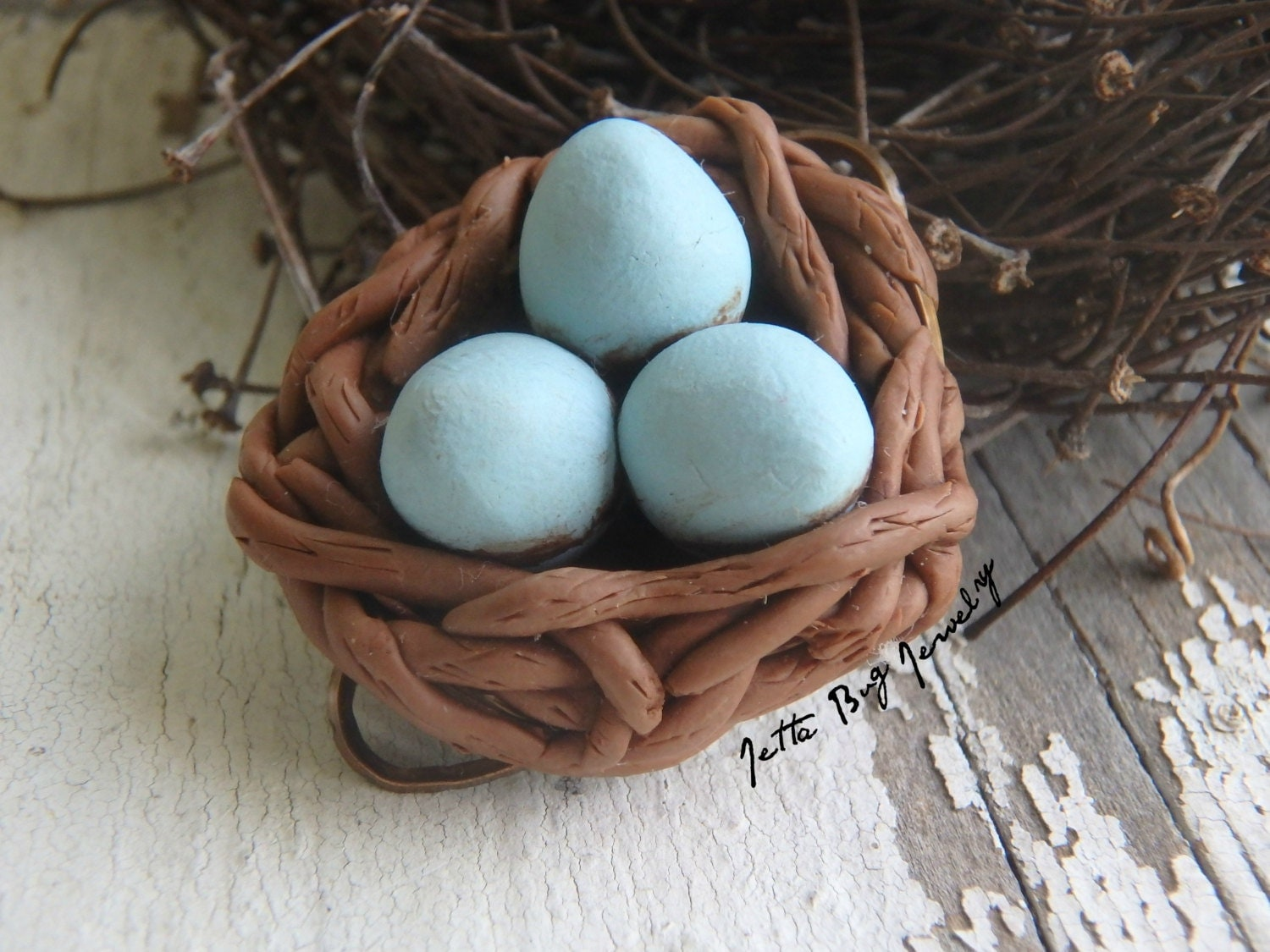 Etsy Bird Nest Ring