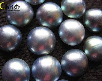 WHOLESALE Blue Mabe Pearl Round 8-18mm 100pcs