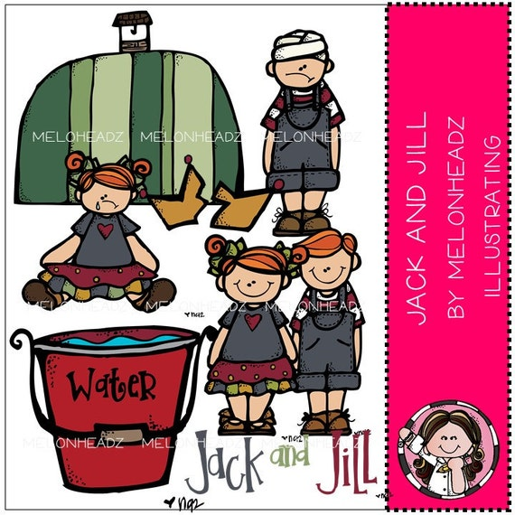 Jack and Jill clip art - COMBO PACK
