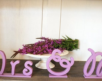 Mr and Mrs Wedding Sign Mr & Mrs wooden letters table decor Wedding gift