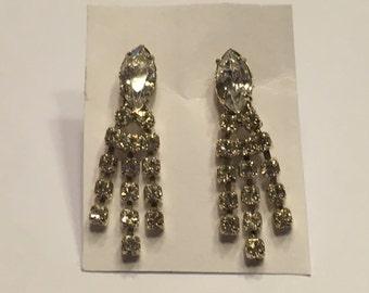 set of Rhinestone pieced Earrings, 25 mm long (A11)