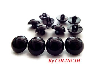 Safety eyes 11mm Button eyes Doll eyes Toy eyes Doll Parts Animal eyes Plush eyes Teddy Bears eyes Plastic eyes - Black - 10 pairs E7