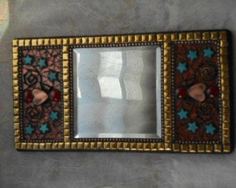 Decorative stained glass mosaic mirror