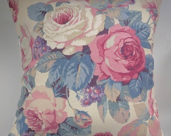 Cushion Cover in Sanderson Vintage Chelsea Roses 16""