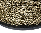42ft Antique Brass 4.5x6.2mm Cable Chain unsoldered links