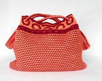 PDF tunisian crochet pattern SOL y AMOR bag