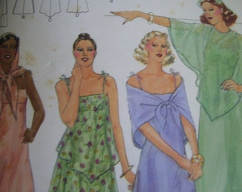 Vintage 1970's Butterick 5420 Dress, Capelet and Scarf Sewing Pattern, Size 16 Bust 38
