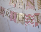 Custom Bridal Shower Banner. Wedding Shower Banner, Blush and Gold Bridal Shower, Pink and Gold Bridal Shower Decorations