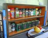 Rustic Spice Rack-Large Free Standing Spice Rack - Made with Solid Pine- Rustic Handmade Furniture - Old Country General
