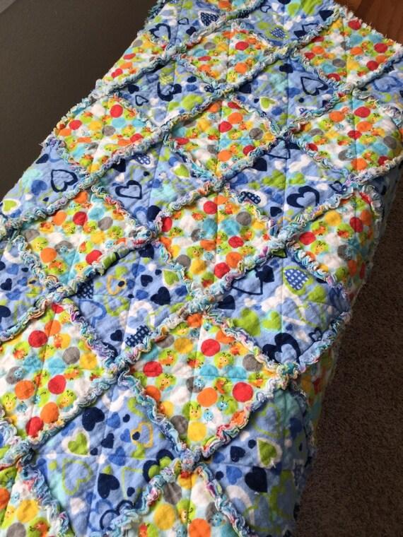 Flannel Baby Boy Rag Quilt By SanDeezBoutique On Etsy