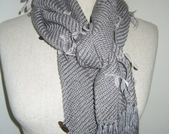 Grey Autumn scarf