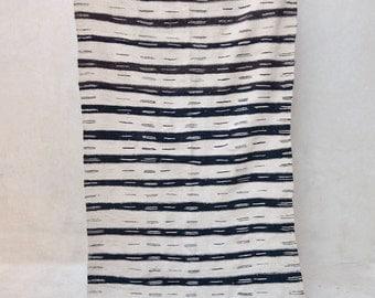 "WHITE TIGER 10'10"" x 4'2"" Boucherouite Rug. Tapis Moroccan. Teppich Berber. Mid Century Modern Danish Design Compliment. ZA16-55"
